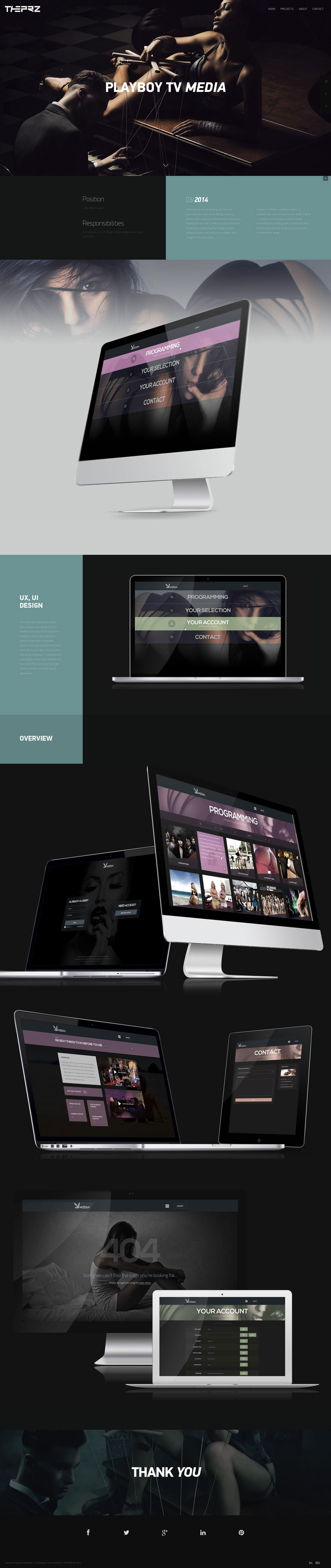 Playboy TV Media  - Project page - THE PRZ composition element