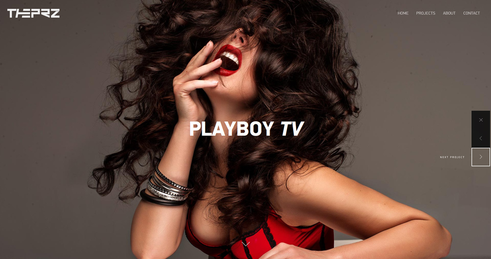 Playboy TV - Project page - Cover - THE PRZ composition element
