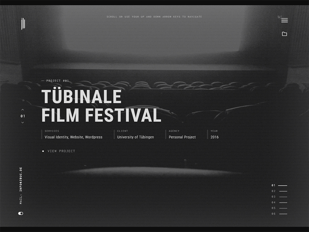 Julien Bucaille Portfolio screenshot