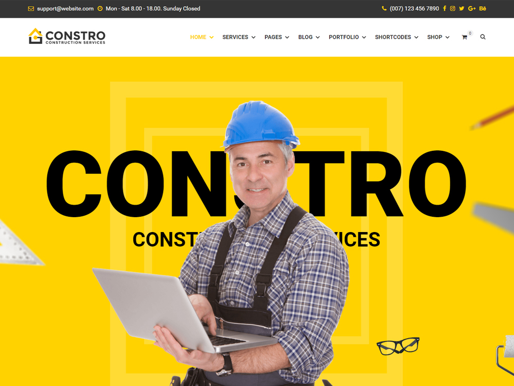 Constro - Construction Business WordPress Theme screenshot