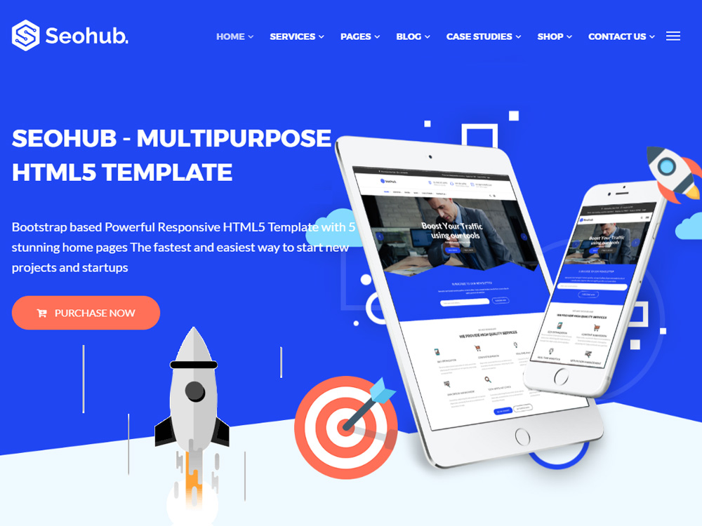 SEOhub Multipurpose HTML5 Template screenshot