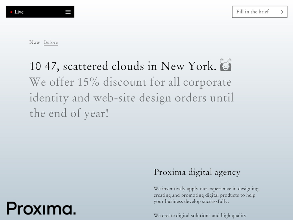 Proxima digital agency screenshot