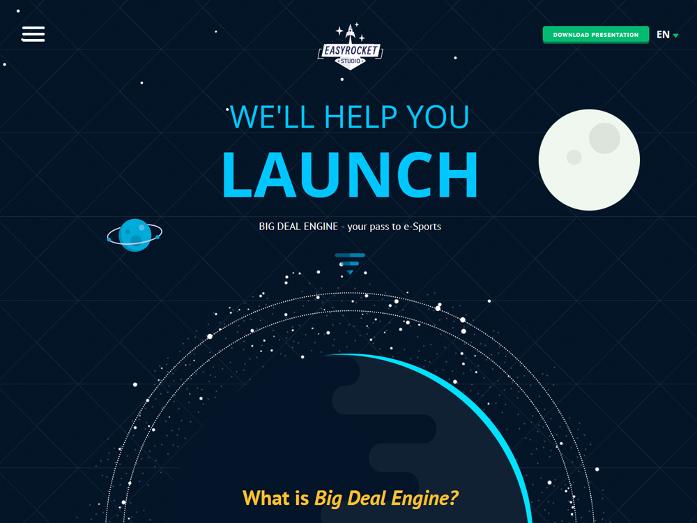 Promo-site of «Easy Rocket Studio» screenshot