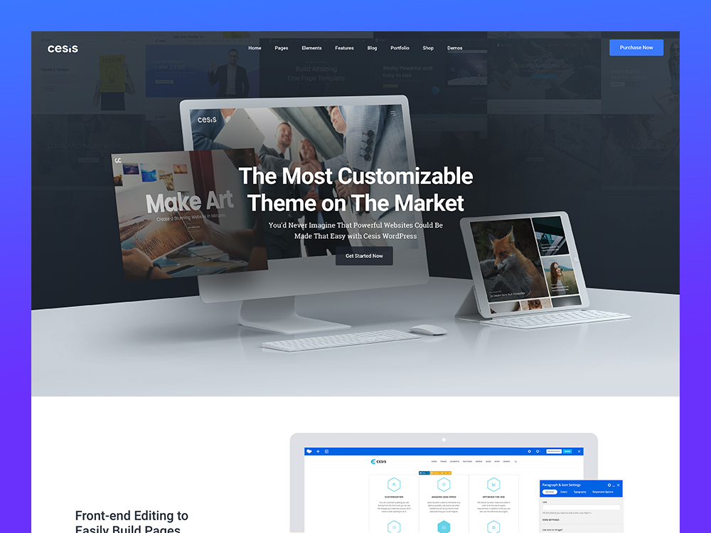 Cesis | Responsive Multi-Purpose WordPress Theme screenshot