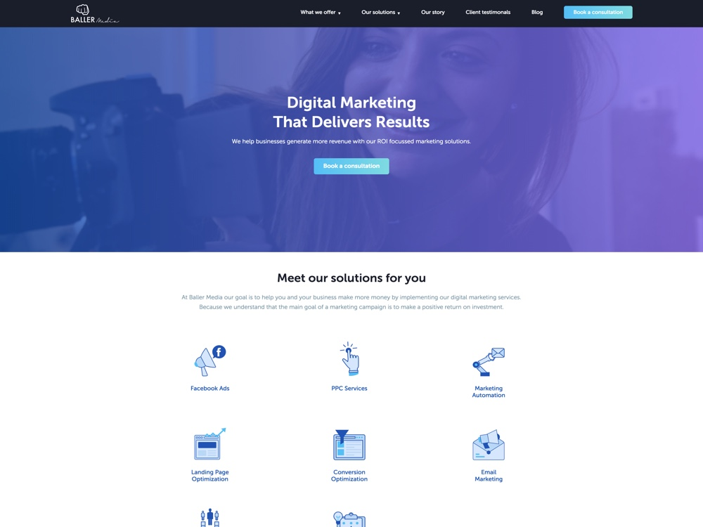 Digital Marketing Agency Focussed On Your Marketing ROI screenshot