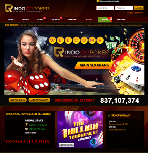 Websites By Tag Idn Poker Cssfox Website And Web Design Awards