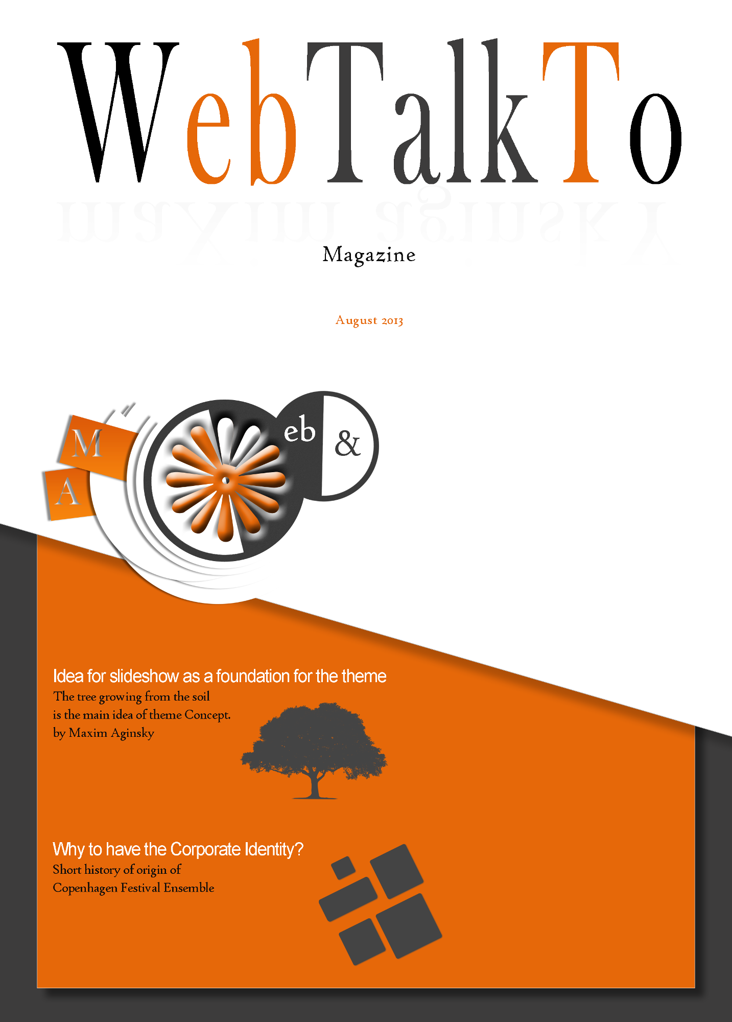 Web Talk To Magazine Cover Design August 2013 Maxim